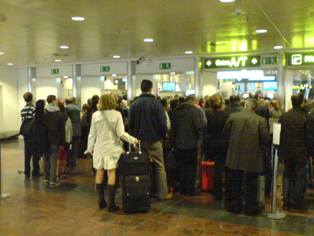 Waiting times provided courtesy of Brussels Airport