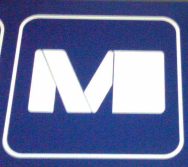 Metro Sign in Gare Du Midi