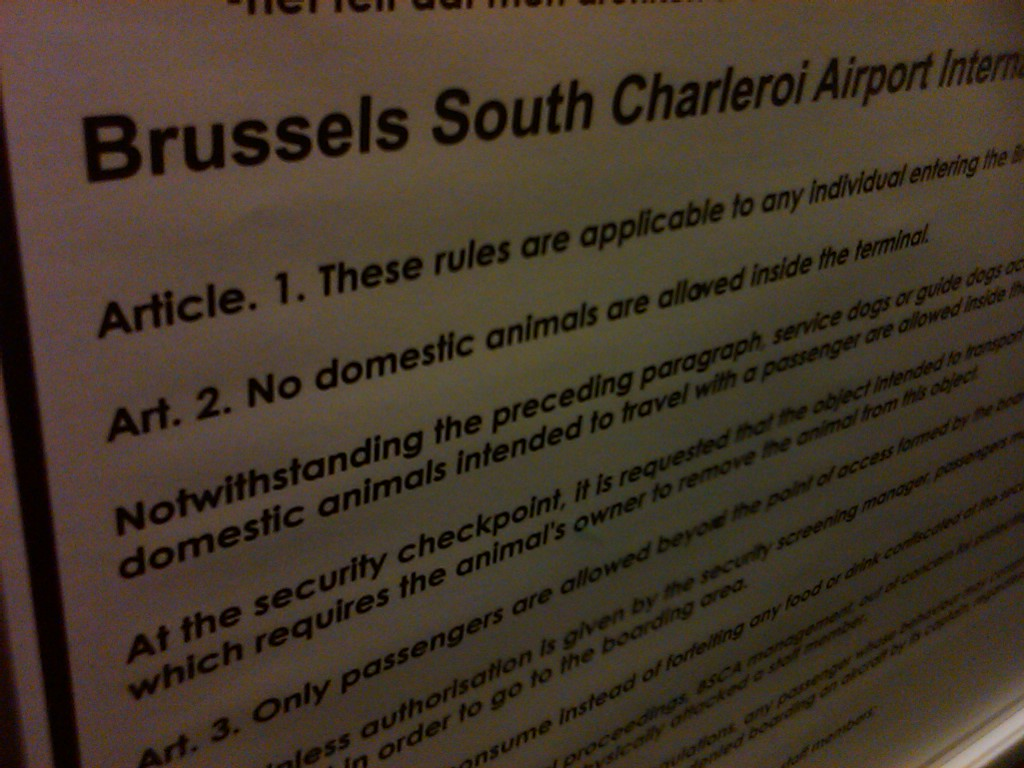 The Rules of the, erm, Airport