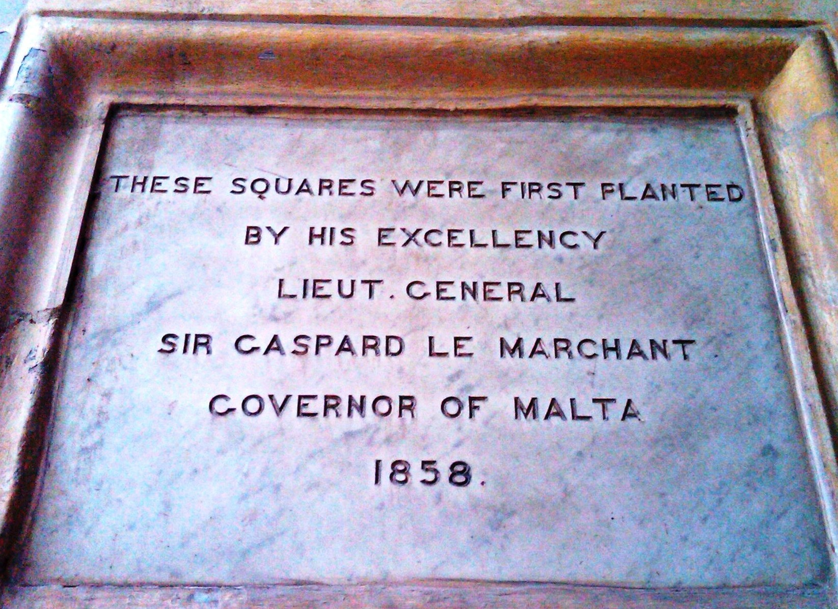 Placard in Palace, Malta