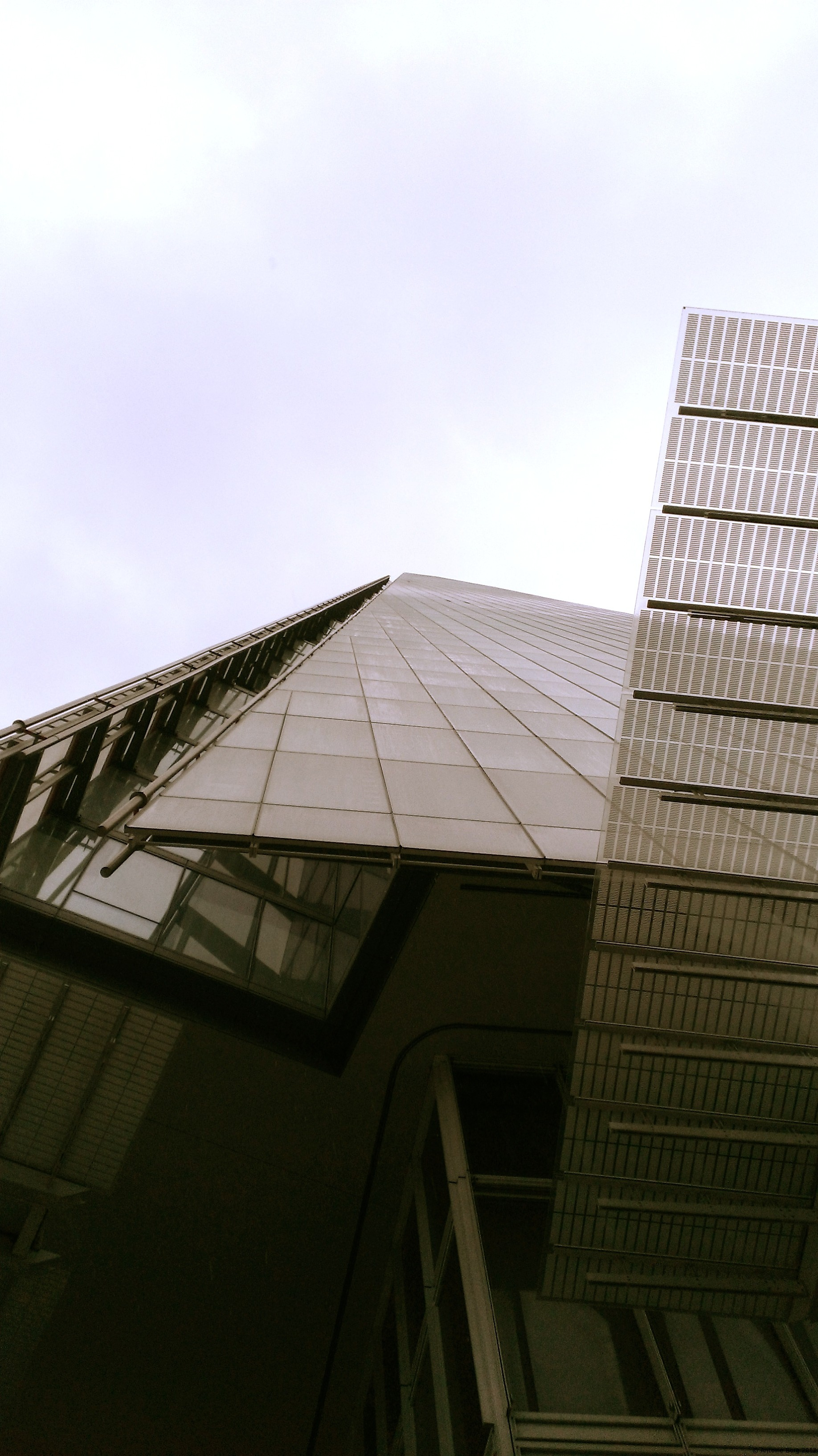 This is what the Shard skyscraper looks like from its base