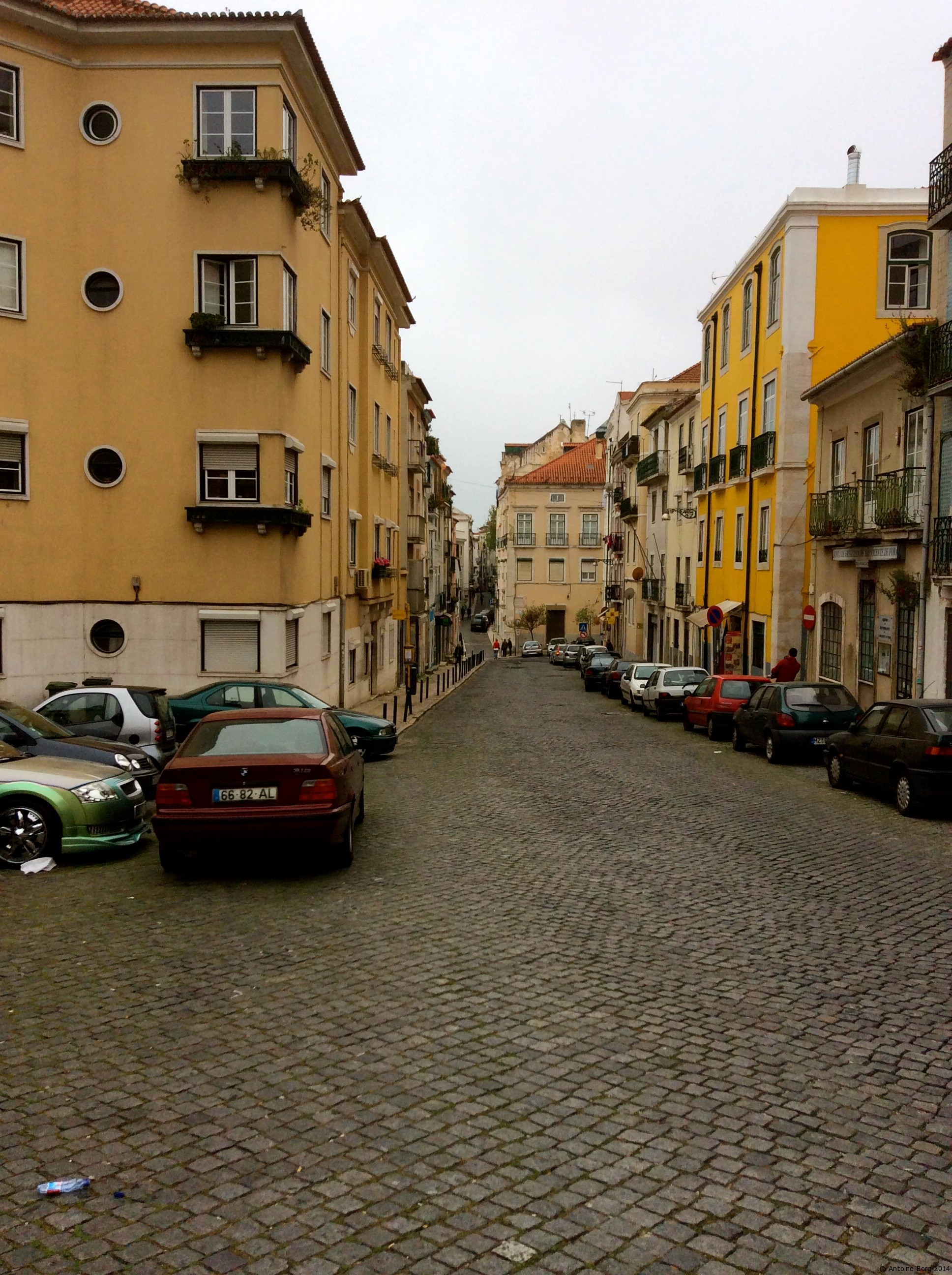 A photo of a street in Lisbon
