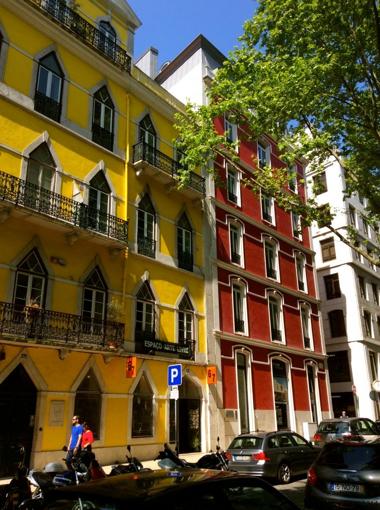 The multi-coloured and vibrant facades of Lisbon - Portugal