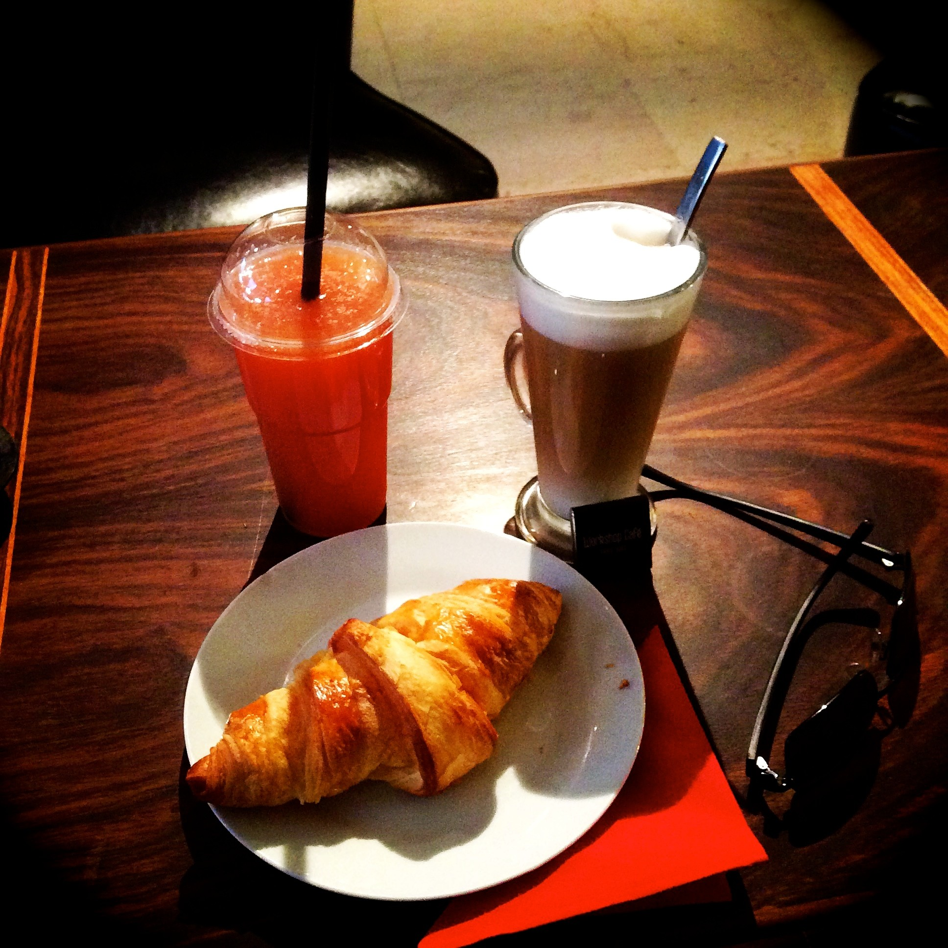 A photo of breakfast at the Workshop Cafe - Brussels, Belgium