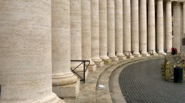 A photo of the columns in St Peter's Square - Vatican City, The Vatican